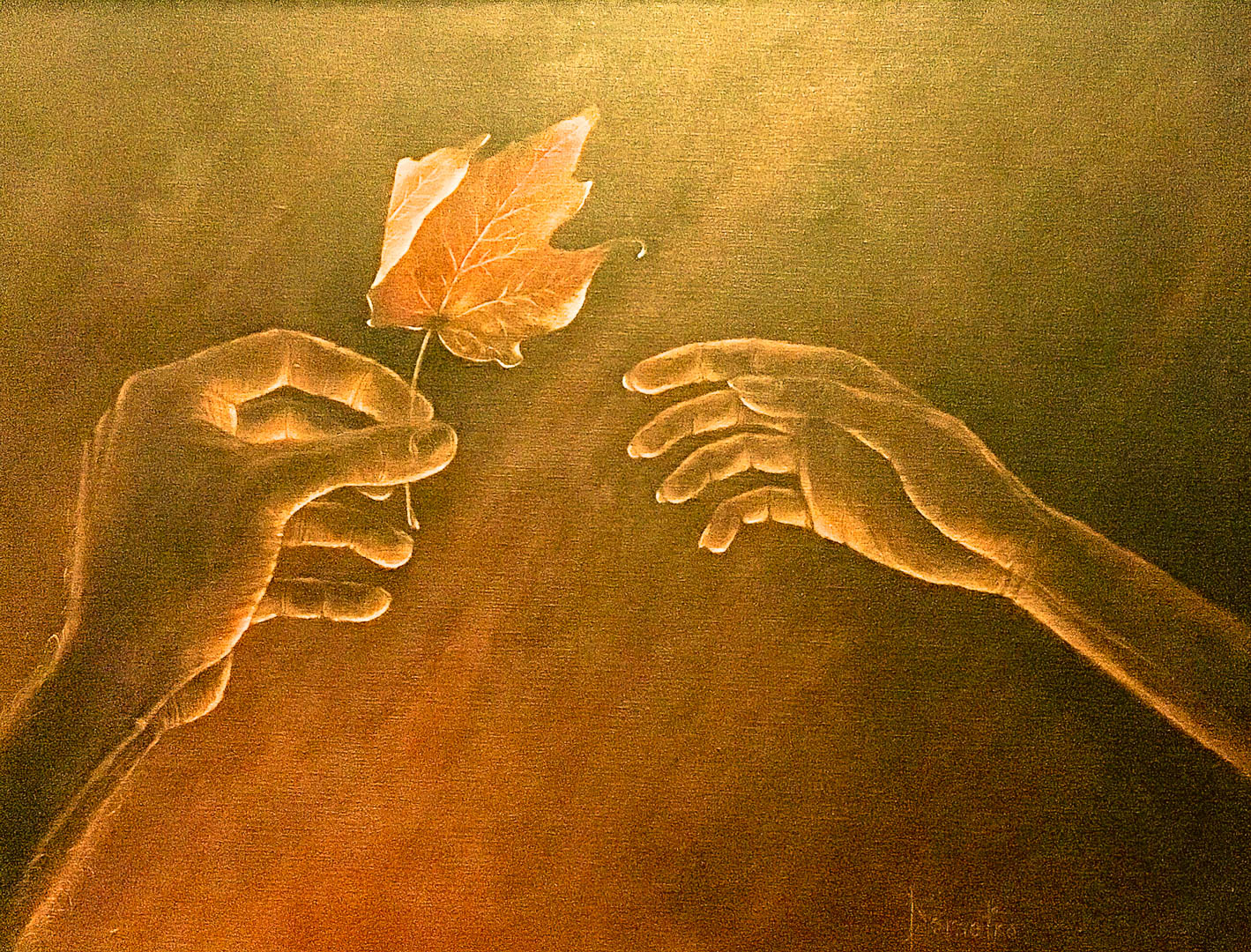 A Leaf for You My Love by Jim Demetro