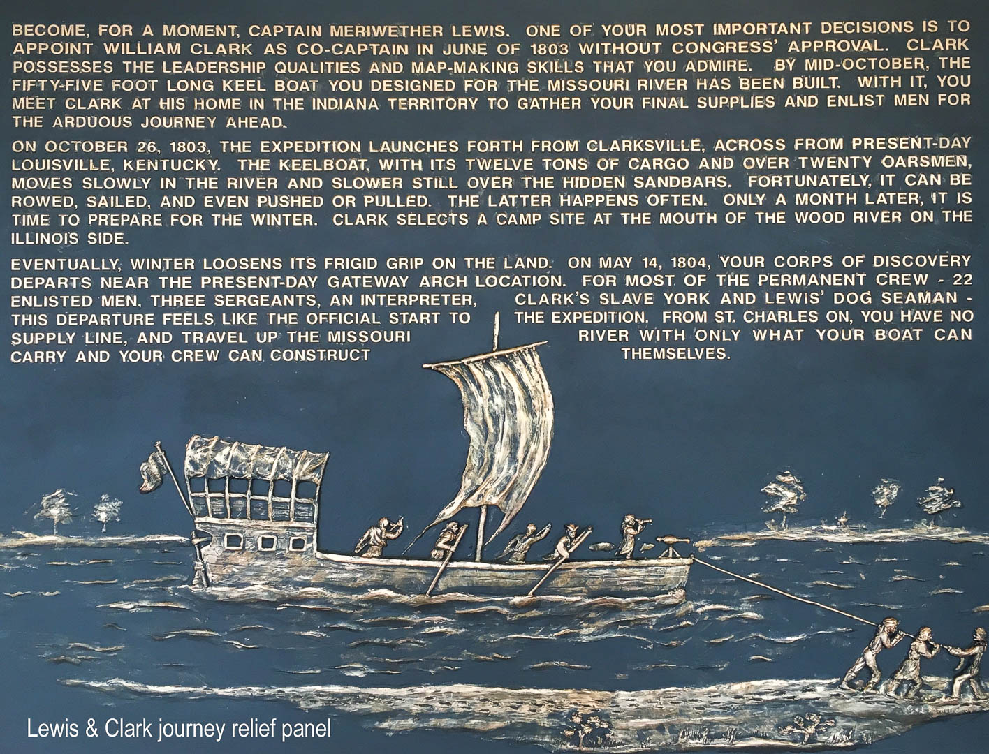 Lewis and Clark Expedition Interpretive Panel by Jim and Christina Demetro
