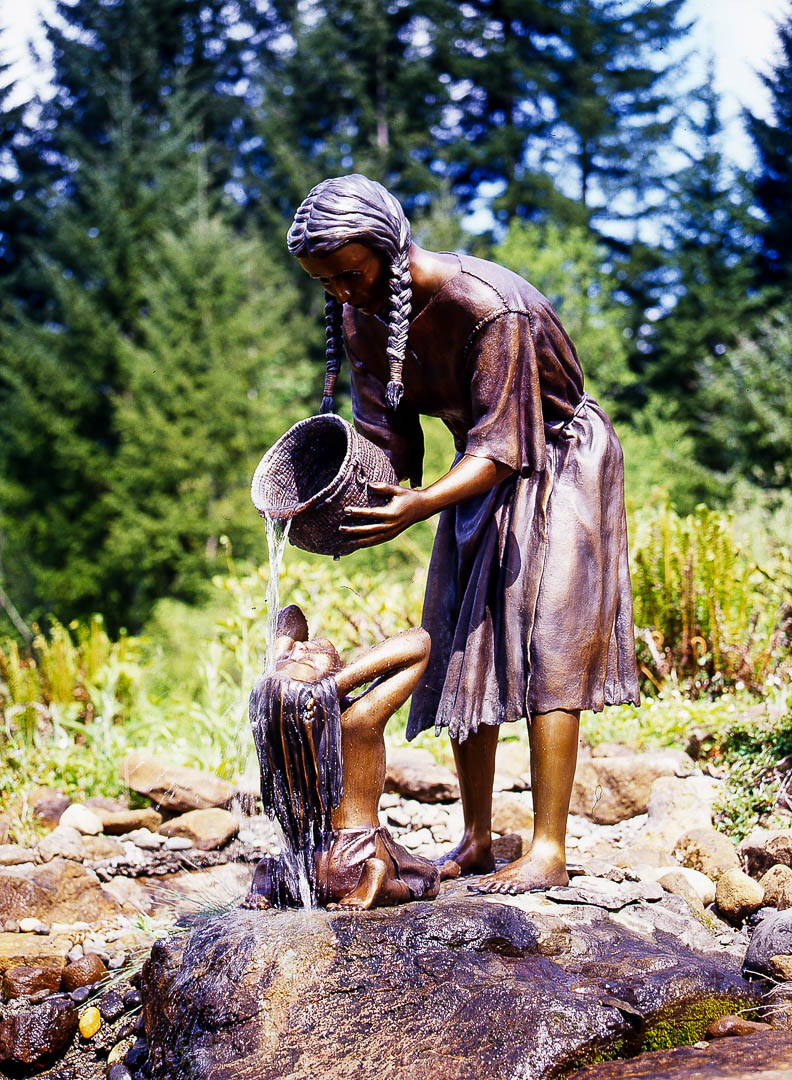 Mother Bathing Child by Jim and Christina Demetro